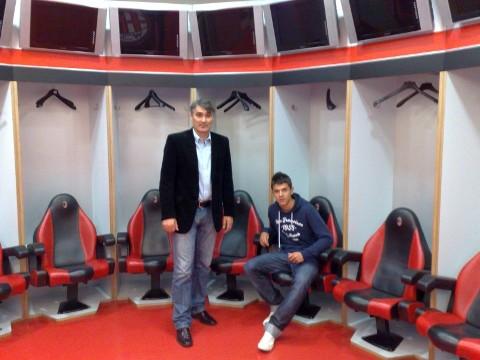 AC Milán meghívott vendégei voltunk, Tamás Krisztián az AC Milán edzéseit látogatta 2010.október 4-8-ig!