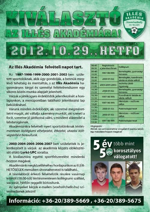 KIVÁLASZTÓ-FELVÉTELI 2012