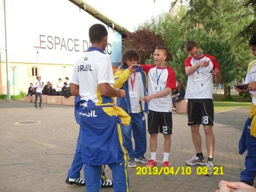 """Középiskolás világbajnokság  Franciaországban.Bordeauxban képviseli Magyarországot az U17 csapatunk """"hermanos """"osztálya."""