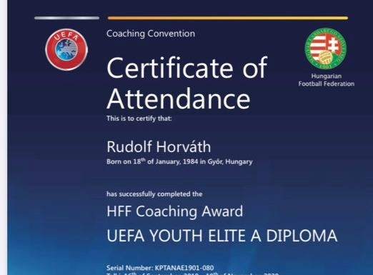 Cél a Pro-licenc és az ifjúsági Bajnokok Ligája
