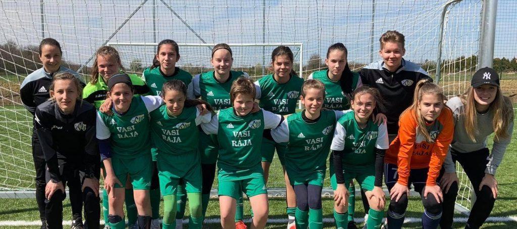 Küzdős mérkőzésen szereztek értékes három pontot az U14-es lányok