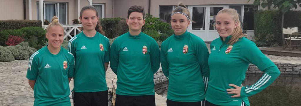 Öt játékosunk készült a női U19-es válogatottal