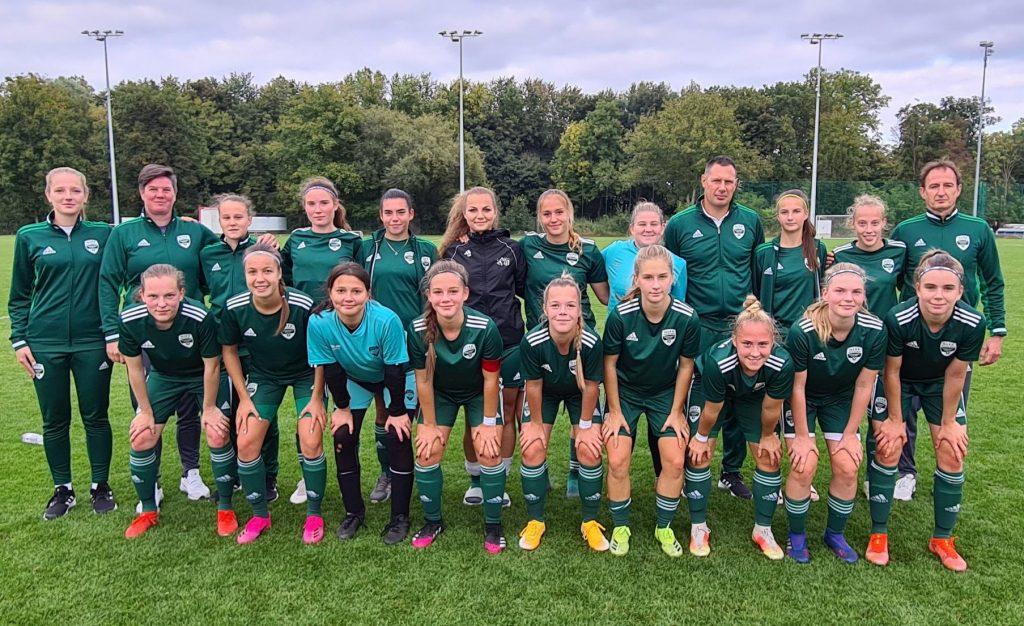 Nagy gólokkal nyertek az U19-es lányok